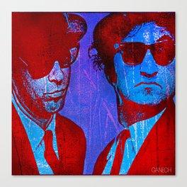 les frères bleu Canvas Print