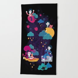 Across the Lucyverse Beach Towel