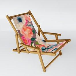 Peachy Blooms Sling Chair