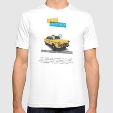 Taxi driver Mens Fitted Tee White MEDIUM