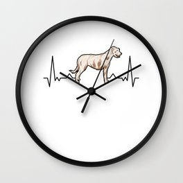 Irish Wolfhound Heartbeat Irish Wolfhound Wall Clock