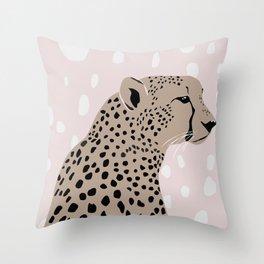Cheeta The Queen Throw Pillow