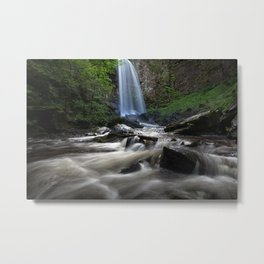 Melincourt falls Resolven south Wales Metal Print