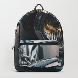 Close Up Of Car Headlight Backpack