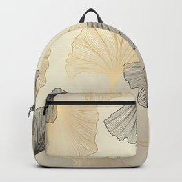 Luxury golden Ginkgo background. Backpack