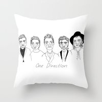 cactei Throw Pillows featuring One Direction by ☿ cactei ☿