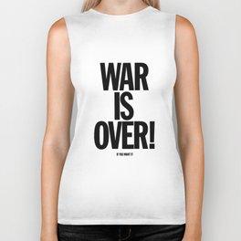 War Is Over - If You Want It -  John Lenon & Yoko Ono Poster Biker Tank