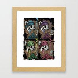 THE CARTOON CAT 4X REDUX Framed Art Print