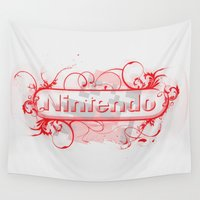 nintendo Wall Tapestries featuring Urban Nintendo by Donkey Inferno