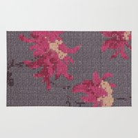 stitch Area & Throw Rugs featuring *Cross Stitch* by Mr and Mrs Quirynen
