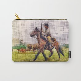 Cowboy and horse  Carry-All Pouch