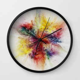 Colorful Flower abstract 2016 Wall Clock