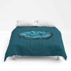 Teal & Turquoise Agate Crystal Gemstone Comforters