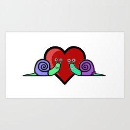 Snail Couple Art Print