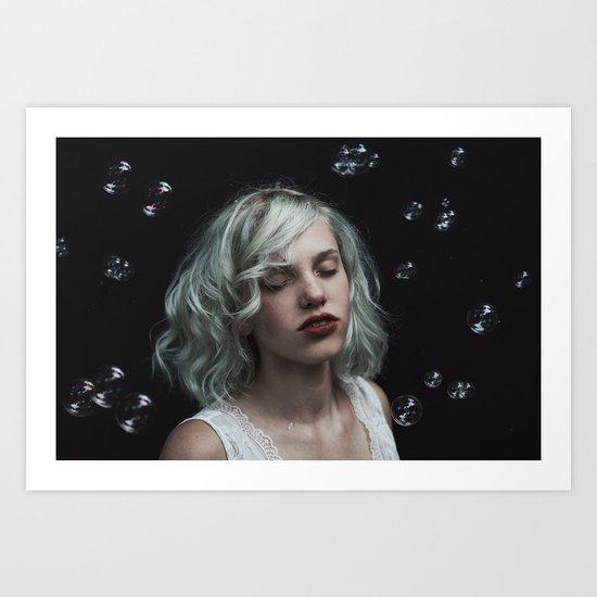 Bubble girl Art Print