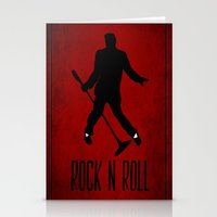 rock n roll Stationery Cards featuring Rock N Roll by Eleanor Rose