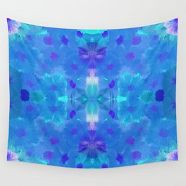 Blue floral pattern Wall Tapestry