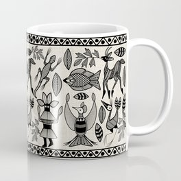 African Senufo Korhogo Tribal Ethnic Art Seamless Pattern Coffee Mug