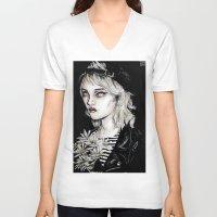sky ferreira V-neck T-shirts featuring Sky ferreira no………………………..11 by Lucas David