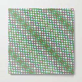Fish Scale Green - Mandala Premium Series 005 Metal Print
