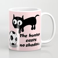 football Mugs featuring Cat Football by mailboxdisco