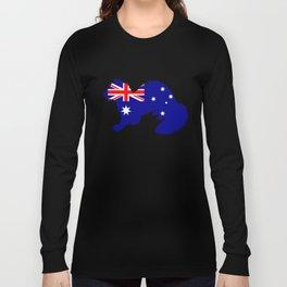 Australian Flag - Ferret Long Sleeve T-shirt
