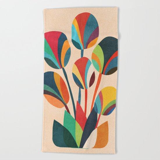 Ikebana - Geometric flower Beach Towel