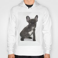 french bulldog Hoodies featuring French Bulldog by Three of the Possessed