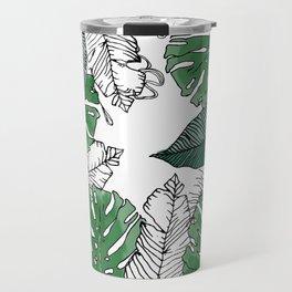 Tropical banana and leaves Travel Mug