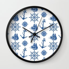 Ships Anchor Beach House Wall Clock