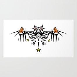 Fire Bat Art Print