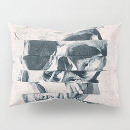 Glitch Skull Mono Pillow Sham