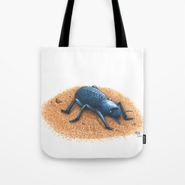 Blue Death Feigning Beetle Tote Bag