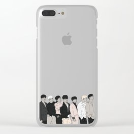 iKON Goodbye Road Drawing Clear iPhone Case
