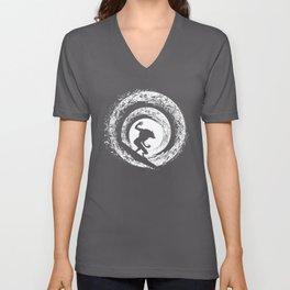 Moon Surfing Unisex V-Neck