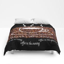 MORE COFFEE PLEASE Comforters
