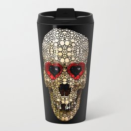 Skull Art - Day Of The Dead 3 Stone Rock'd Travel Mug