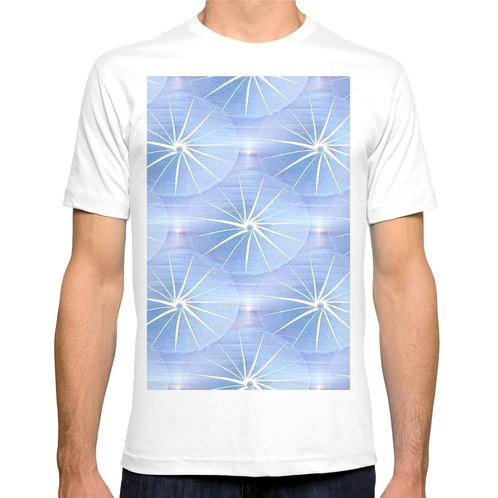 Paper Parasols (Blue) T-shirt by artisimo (TSR7741427) photo