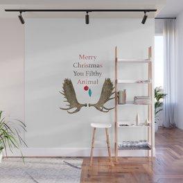 Merry Christmas You Filthy Animal Wall Mural