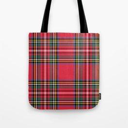 Red & Green Tartan Pattern Tote Bag