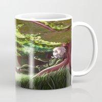 hetalia Mugs featuring Arthur Kirkland by Kurfluffle