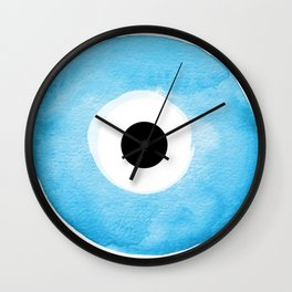 Watercolor Evil Eye Wall Clock