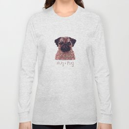 PUG- Hand-Rolled Paper Art Long Sleeve T-shirt
