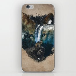 Calm of the Wolf iPhone Skin