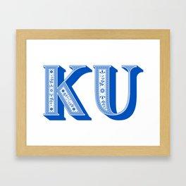 KU Paisley Framed Art Print