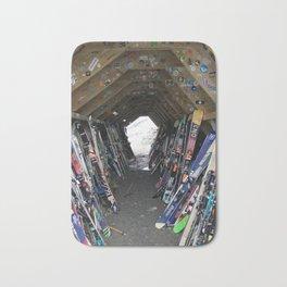 Hideout gathering of skis Bath Mat