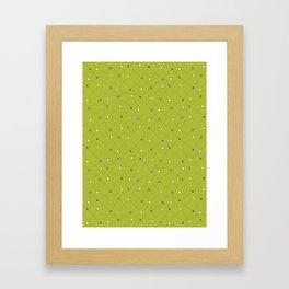 Chemistry Class Doodles - Lime Framed Art Print