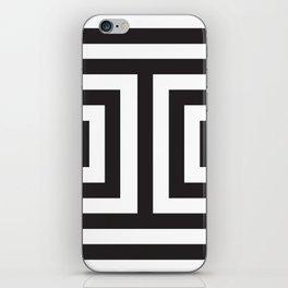 Black Greek Stripes iPhone Skin