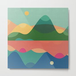 Day and Night in the Hills Metal Print