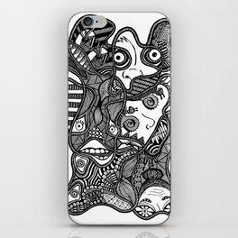 Faces in the Dark iPhone Skin
